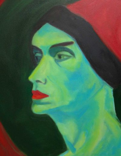 NYC, Green Man inspired by Alexej von Jawlensky