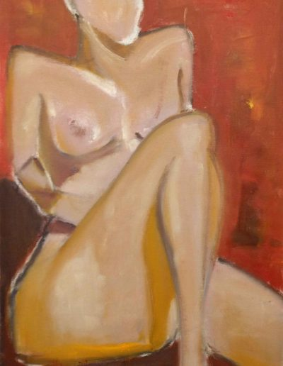 NYC, Red Nude Study